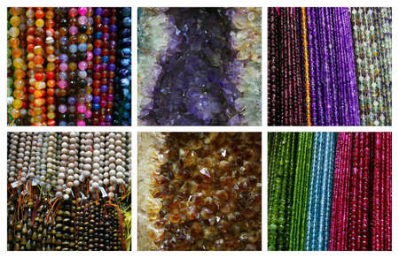 Colorful gemstones ,collage photo