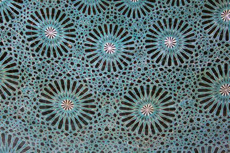 majolica: Dome of Karatay Madrasa in Konya,Turkey