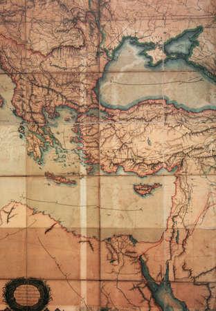 clase media: Mapa antiguo del Imperio Otomano
