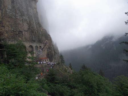 monastery nature: Main entrance of Sumela Monastery in Trabzon ,Turkey