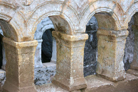 roman empire: The Church built by Paul in honour of Mary in Cehennem in Mersin,Turkey  Stock Photo