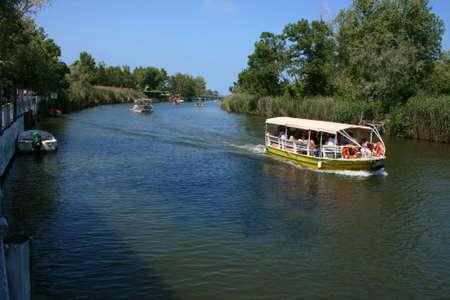 River Sailing on popular Goksu River in Agva,Istanbul,Turkey