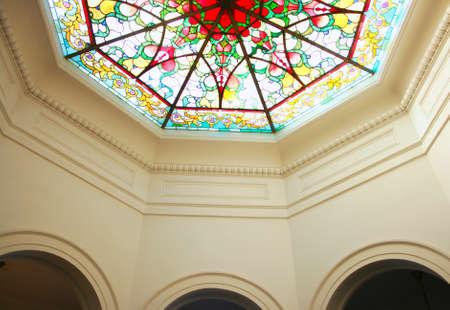 octagonal: Octagonal stained glass ceiling