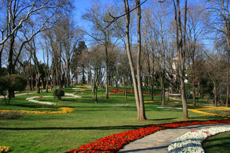 paysage: Khedive Palace s Garden in Istanbul