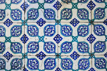 ���wall tiles���: Old Wall Tiles of Yeni Mosque in Istanbul