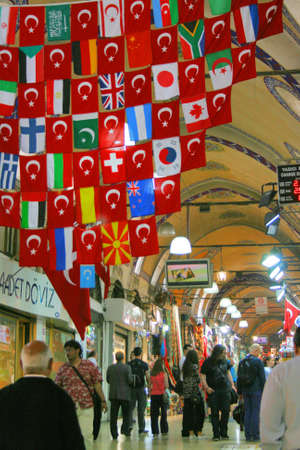 turkish flag: Grand Bazaar in Istanbul