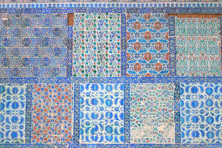 Old wall and wall tiles of Eyub Sultan Mosque in Istanbul
