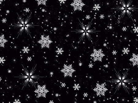 flamed: Snowflakes on Black Background