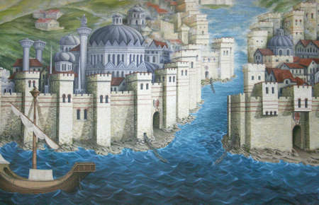 Ancient Istanbul (Constantinople),Roman Empire Era -painting