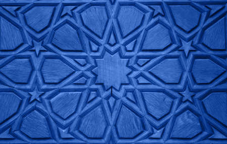 traditional culture: Old Wooden Door Detail - Blue version Stock Photo