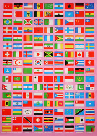 Flags of The World,Names are in Turkish Language