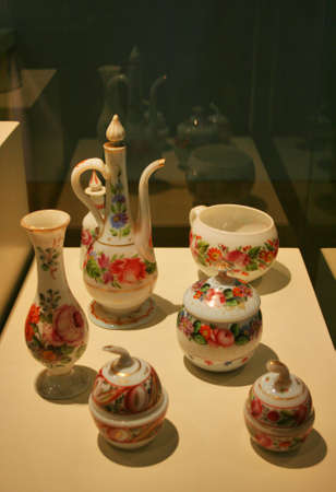 Glass handicrafts in Turkiye  Is Bankasi Museum in Istanbul,Turkey