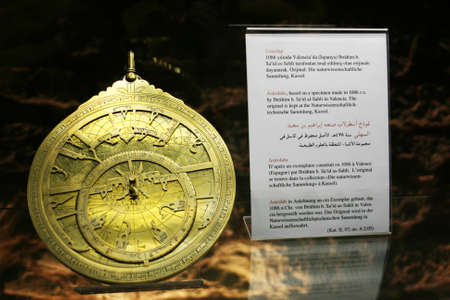 Medieval Astrolabe in Istanbul Museum of the History of Science and Technology in Islam