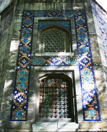 Exterior tiles of Cinili (Tiled) Kiosk in Istanbul,Turkey