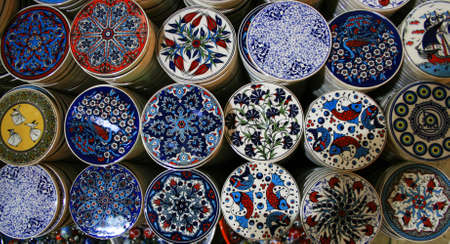 Colorful Ceramics From Istanbul, Turkey Stock Photo