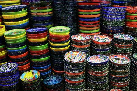 ceramics: Colorful Ceramics From Istanbul, Turkey Stock Photo