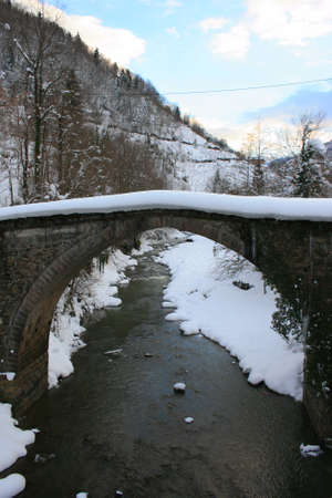 Historical Ottoman Arch Bridge in Trabzon, Turkey