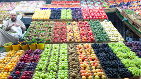 Street greengrocer in Taif, Saudi Arabia