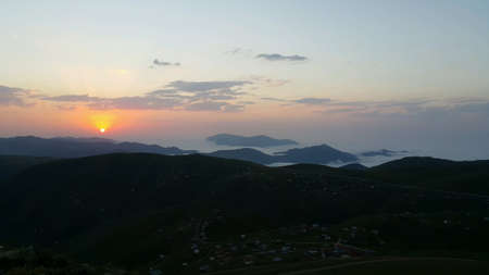 Sunset over Kadirga Plateau ,Trabzon ,Turkey
