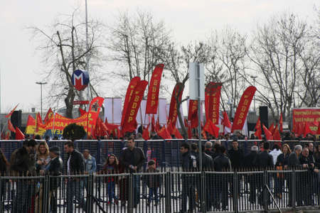 Socialist Protesters in Kadikoy, Istanbul, Turkey