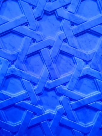Oriental marble pattern-blue version