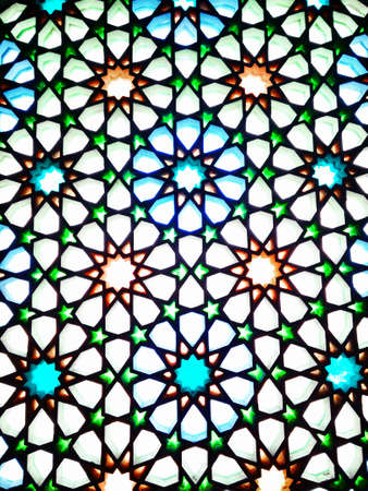 Oriental stained glass window in Medina, Saudi Arabia