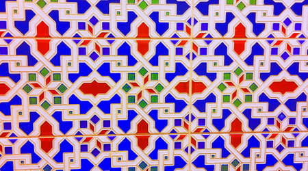 Oriental ethnic style tile, close up