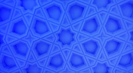 Oriental marble pattern-blue version Stock Photo - 87594924