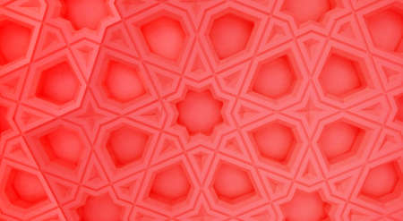 Oriental marble pattern-red version Stock Photo
