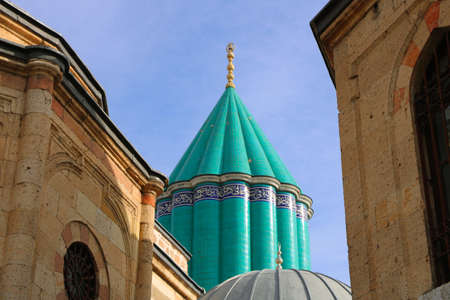 Rumi aka Mevlana Tomb and Museum, Konya, Turkey Stock Photo - 95510806