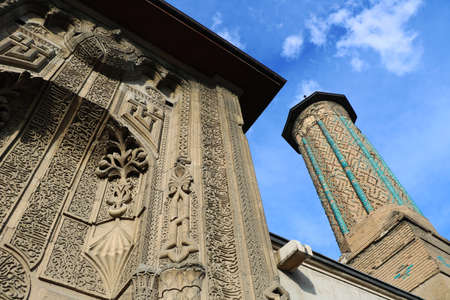Ince Minareli Medrese (Slender Minaret Madrasah) belongs to the 13th century in Konya, Turkey. There is Sura Yaseen and Fath on main gate.