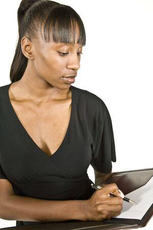 African American Office Workerstudent