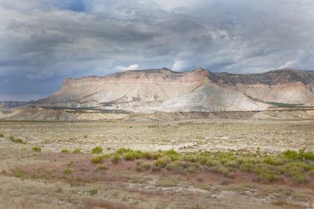 Wasatch plateau seen from near Ferron Utah in Emery County. photo