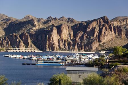 Saguaro Lake Marina in Arizona
