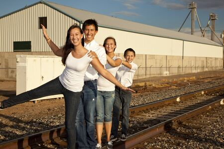 Multicultural Family Portrait Stock Photo - 11446937