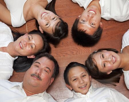 Multicultural Family Portrait Stock Photo - 11432691