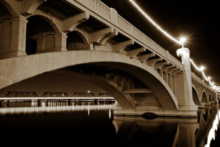 Tempe Arizona Mill Avenue Bridge Stock Photo