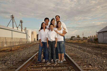 Retrato de familia multicultural Foto de archivo - 11701164