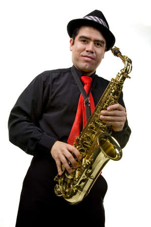 Latino Saxophone Player photo