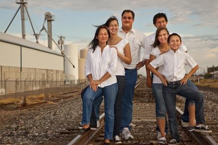 Multiculturele Family Portrait