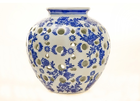 Blue and White Pottery Jar