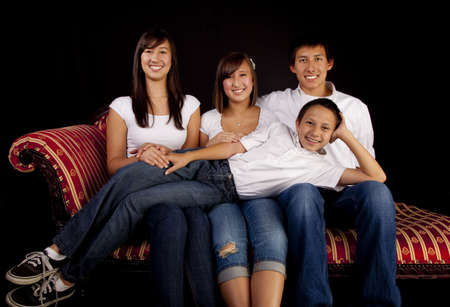 Multicultural Family Portrait Stock Photo - 11701302