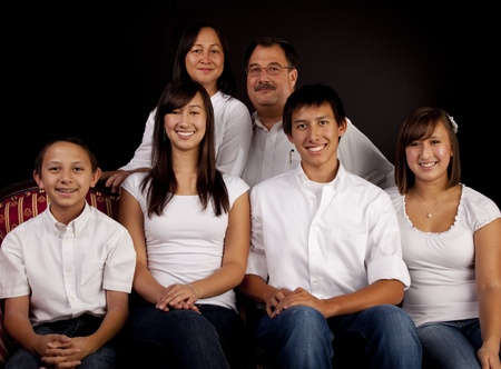 Multicultural Family Portrait Stock Photo