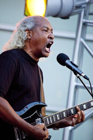 webb: Tempe, Arizona, USA - May 29, 2010 - Billy Webb performs on guitar at a concert by the Knee Deep Experience.