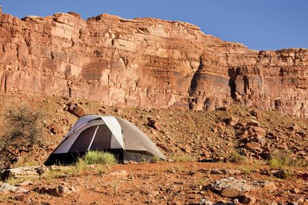 Camp site in the Utah Desert