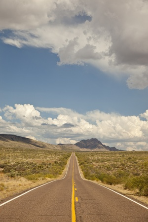 Arizona Road To Bagdad (State Route 96) Stock Photo