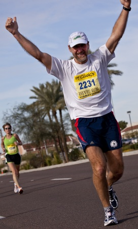 Tempe, Arizona, USA,  January 17, 2010 - Paul Szumlanski races in the P.F. Chang Rock and Roll Phoenix Marithon