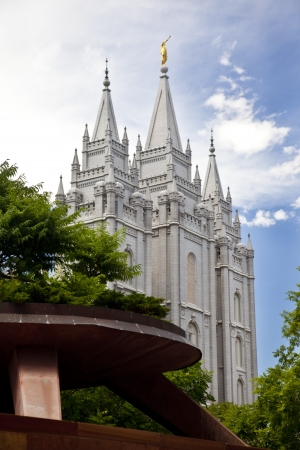 Famous Mormon Temple in Salt Lake City, Utah