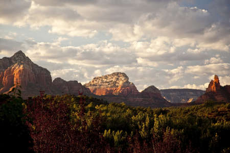 Sedona Arizona  Mountains at Sunset Stock Photo