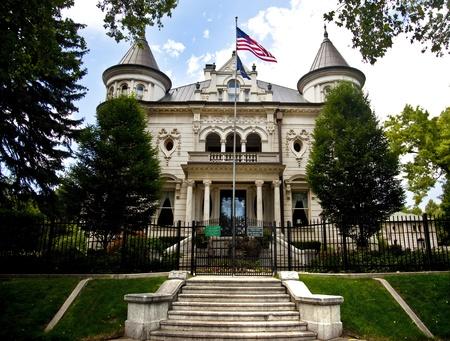 Mansion of the Governor in Salt Lake City Utah 写真素材